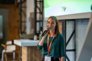 Larissa presenting at Energy Exchange Enablers